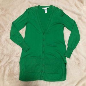 Diane Von Furstenberg Sweaters - Diane Von Furstenberg Cashmere Green Cardigan